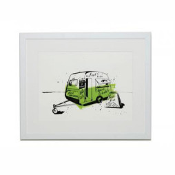 Fish Van (Fresh Fish Every Day) Print - Unframed