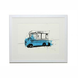 Ice Cream Van Three (Ice Cream in the Park) Print - Unframed