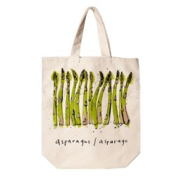 Large Canvas Gusseted Tote Bag - Asparagus