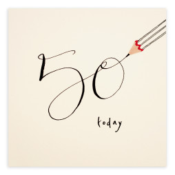Pencil Shavings Card - 50th Birthday