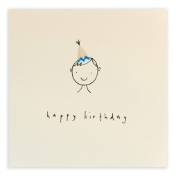Pencil Shavings Cards - Birthday Hat Boy