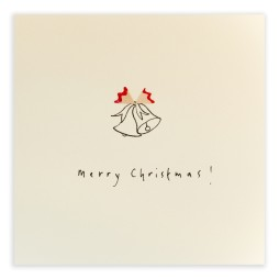 Pencil Shavings Cards - Christmas Bells 1
