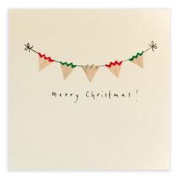 Pencil Shavings Cards - Christmas Bunting