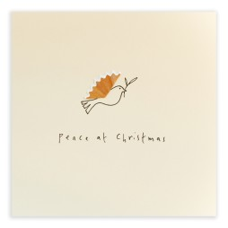 Pencil Shavings Cards - Christmas Dove