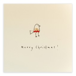 Pencil Shavings Cards - Christmas Robin