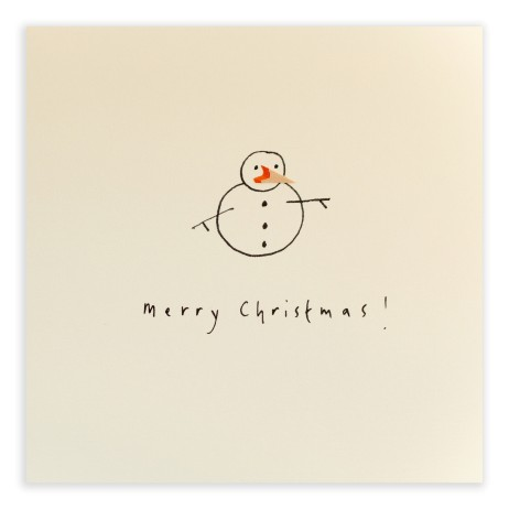 Pencil Shavings Cards - Christmas Snowman