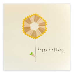 Pencil Shavings Cards - Flower Yellow