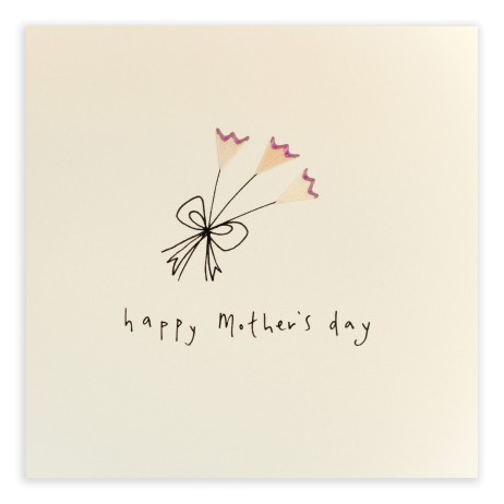 Pencil Shavings Cards - Mother's Day Flowers