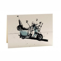 Scooter Greetings Card
