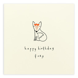 Pencil Shavings Cards - Birthday Foxy