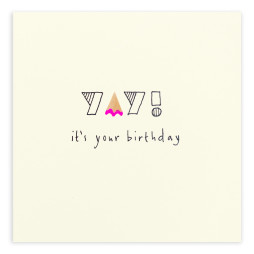 Pencil Shavings Cards - Birthday Yay